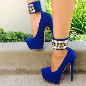shoes heels blue heels