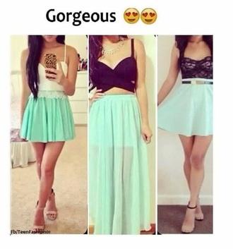 shirt crop tops long skirt skirt shoes