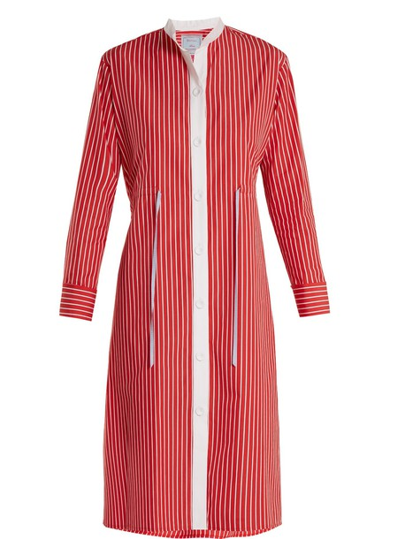 DOVIMA PARIS shirtdress cotton red dress