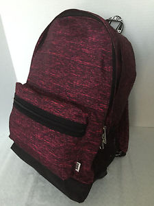 Secret Pink Dark Red Maroon Marled Campus Backpack Bookbag | eBay