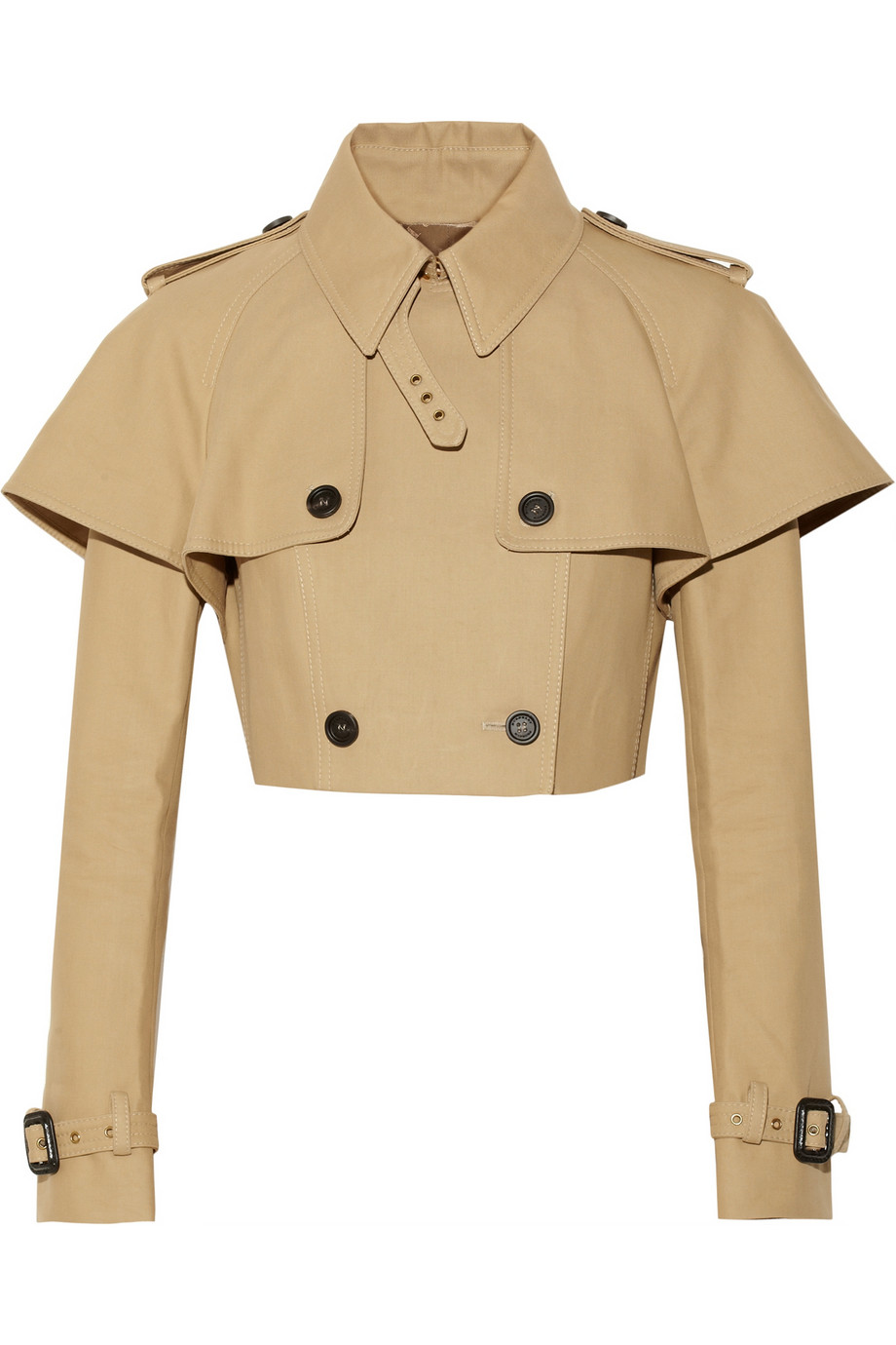 Cropped cotton-gabardine jacket  | Burberry Prorsum | THE OUTNET