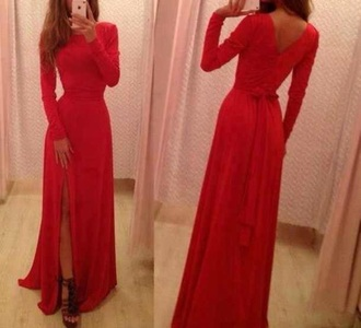 dress red dress prom dress long prom dress lace dress slit dress tight dresses