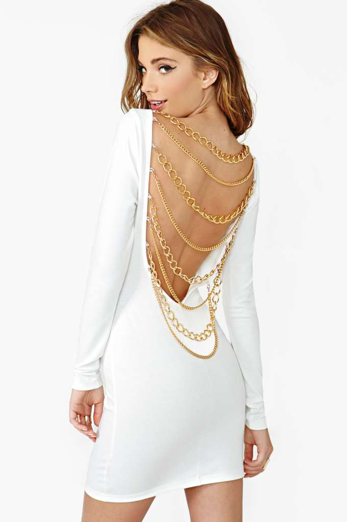 Nasty Gal Off The Chain Dress - White  in  Clothes at Nasty Gal