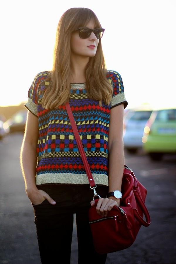 marilyn's closet blog blogger bag jewels sunglasses knitwear