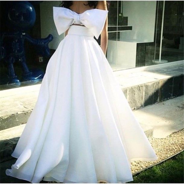 Dress Two Pices Wedding Dresses Two Pieces Prom Dresses Beach