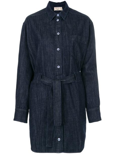 dress shirt dress denim women cotton blue