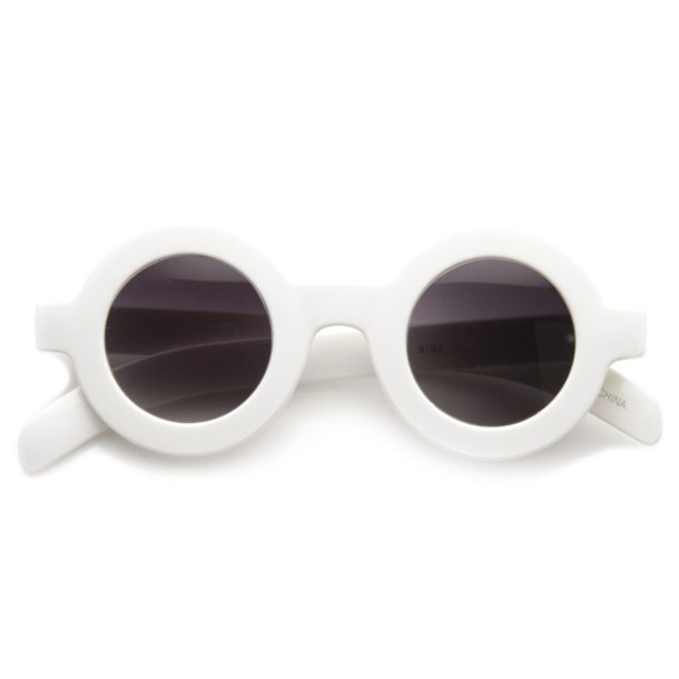 19785ba010 sunglasses white round sunglasses retro round sunglasses thick frame white  sunglasses