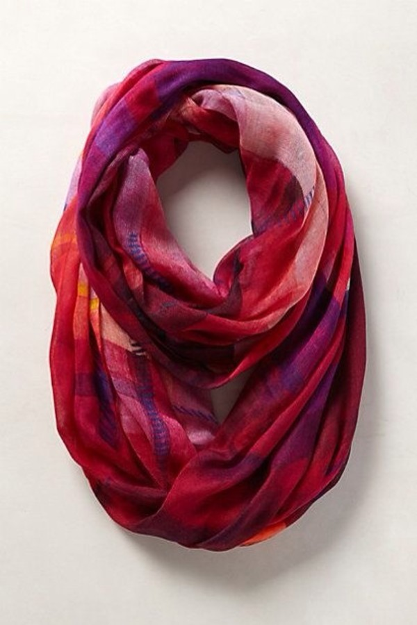 Scarf Purple Red White Pink Shawl Painters Scarf
