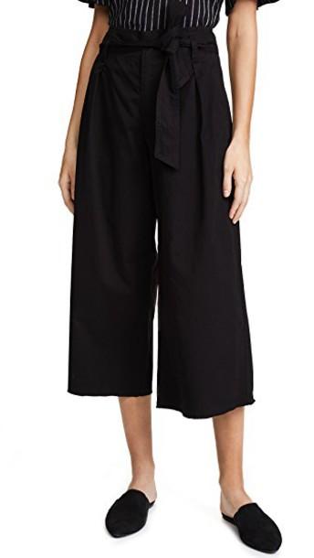 Velvet pants black