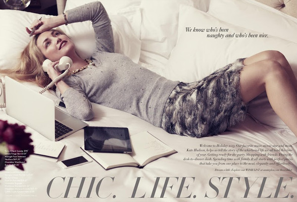 sweater lookbook fashion kate hudson ann taylor skirt