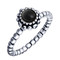 Onyx queen silver ring - cherry diva