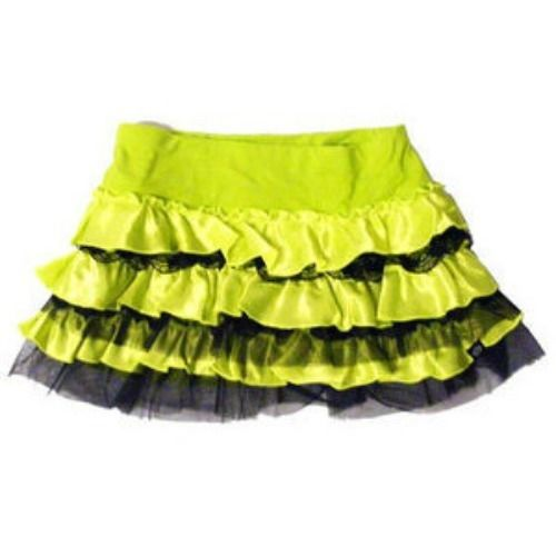 Iron Fist Dead Cute Mini Tutu Skirt Neon Green Lime Mesh Black Grunge Halloween