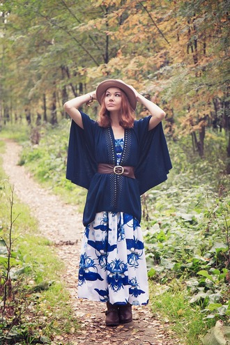 jewels blogger printed dress gvozdishe leather belt fall outfits