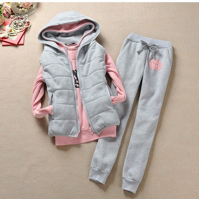 Aliexpress.com : Buy New 2014 Tracksuits women set clothing Plus Size Winter Korean Fleece Sweatshirt Pants Vest Three Piece Suits Top Quality from Reliable suit jacket suppliers on Lady Go Fashion Shop