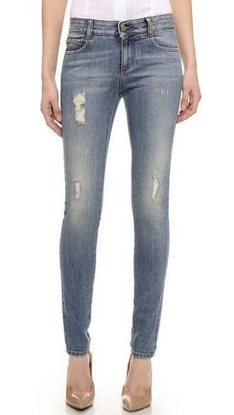 jeans vintage long pale blue