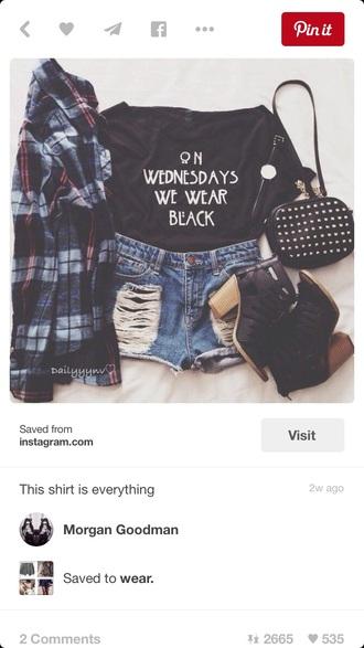 shirt cool shirts ahs on wednesdays we wear black