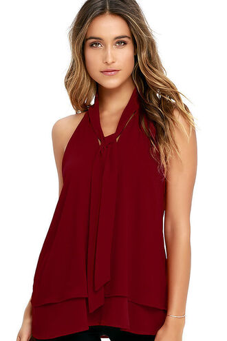tank top the clothes camisole boho shirt blouse burgundy