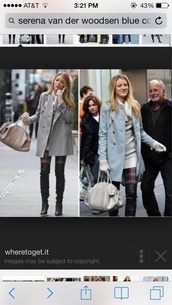 coat,light blue,blake lively