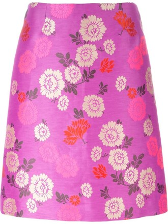 skirt floral print purple pink
