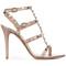 Valentino - valentino garavani rockstud sandals - women - leather - 41, grey, leather
