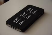 phone cover,phone,iphone,cover,iphone cover,iphone case,bla,bla bla bla,quote on it,technology,tumblr phone case,funny quote,black