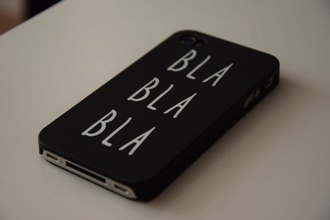 phone cover phone iphone cover iphone cover iphone case bla bla bla bla quote on it technology tumblr phone case funny quote black