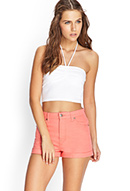 Cuffed Denim Shorts | FOREVER21 - 2000061105