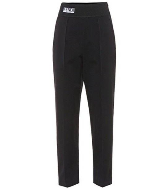 Fendi cropped cotton black pants
