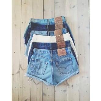 shorts high waisted shorts levi's denim vintage