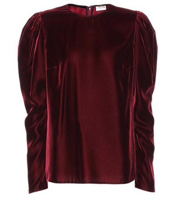 Saint Laurent Velvet top in red