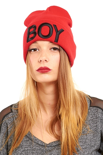 Boy Oh Boy Beanie - Red from ROXX at ShopRoxx.com