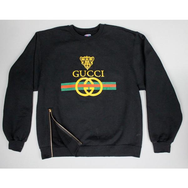 Vintage Gucci sweatshirt classic logo horsebit shirt hoodie... - Polyvore