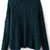 Green Long Sleeve Cable Knit Loose Sweater - Sheinside.com