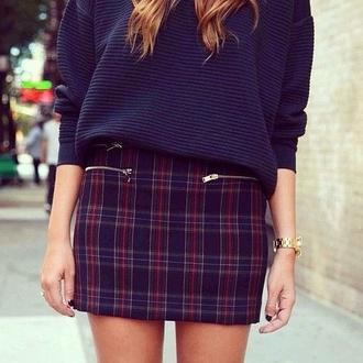 skirt plaid skirt mini skirt