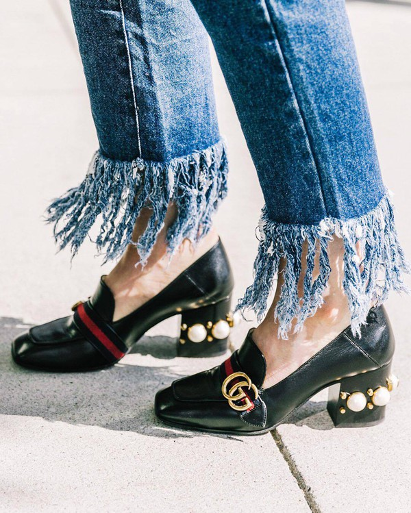 1aab87ce7 shoes tumblr pilgrim shoes black shoes high heel loafers mid heel pumps gucci  gucci shoes embellished