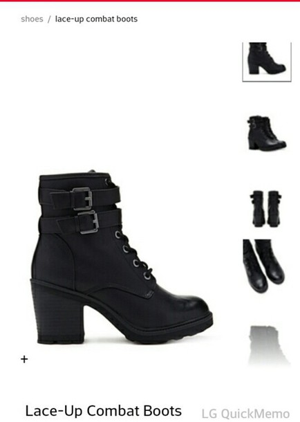 shoes boots thick heel combat boots