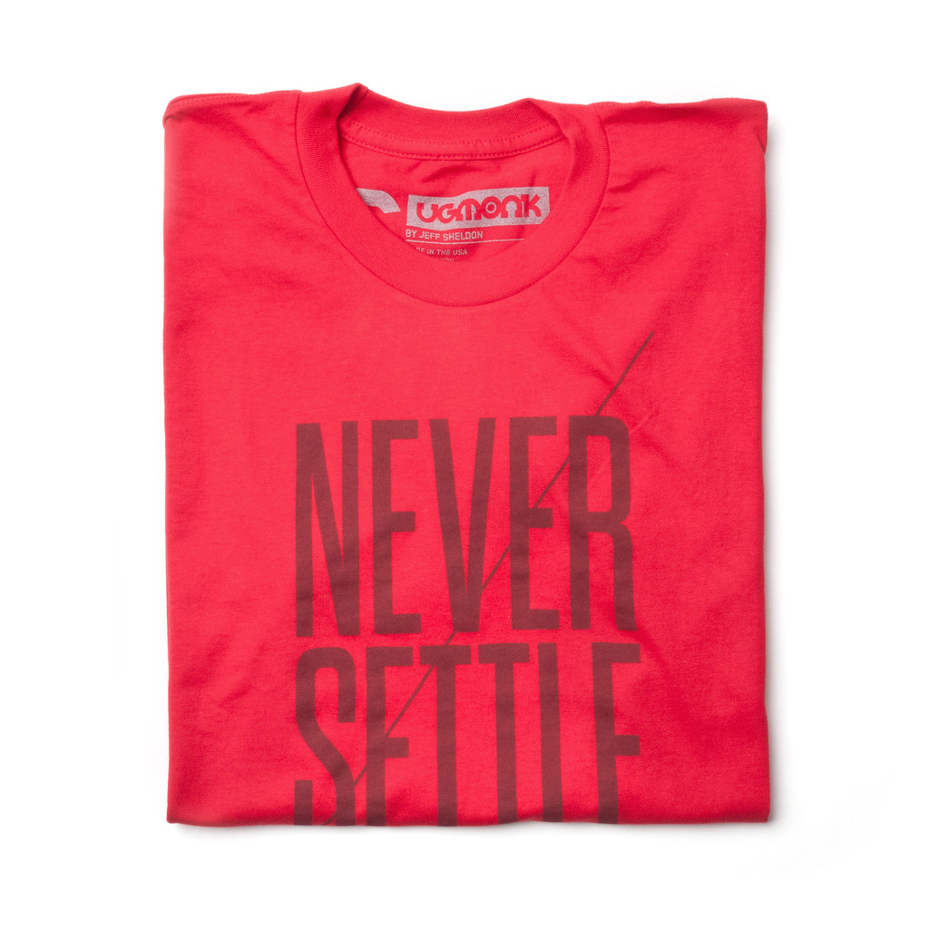 NEVER SETTLE (RED) | Ugmonk