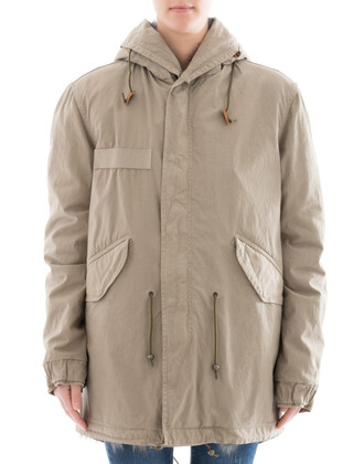 parka cotton grey coat
