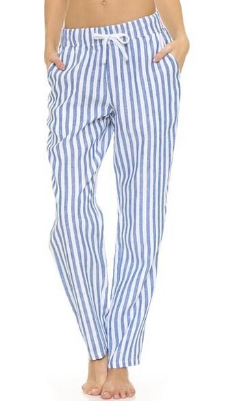 pants white blue
