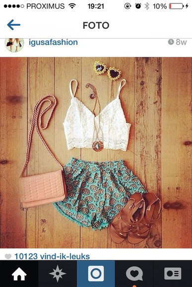 donut crop tops shorts blue shorts blue pom pom shorts aztec aztec shorts cute crotchet top lace sandals white white crop top blouse shoes