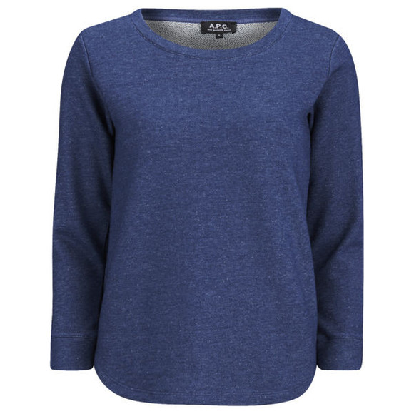 sweatshirt sweater a.p.c. women's denim sweatshirt - indigo indigo