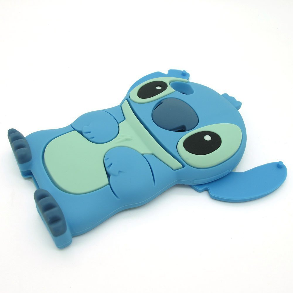 Amazon.com: HELPYOU Blue Iphone 5 C New 3D Cartoon Stitch Movable Ear Soft Silicone Rubber Case Protective Cover for Iphone 5C: Cell Phones & Accessories