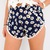 Festival Navy Daisy Floral Crossover Pom Pom Hem Beach Shorts 6 8 10 12 | eBay