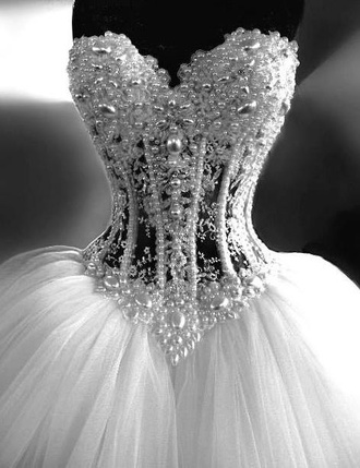 dress wedding dress pearl rhinestones diamonds corset dress white dress prom dress fancy fashion queen wedding clothes lace dress lace bridesmaid wedding gown evening dress pageant dress homecoming dress sweet 16 dresses quinceanera dress