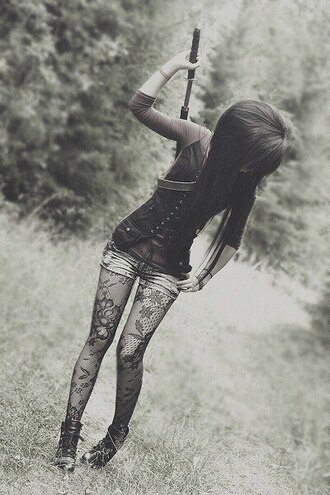 shirt punk punk rock goth goth hipster pastel goth cute tights vest black scene emo lovely floral net tights cardigan pants shoes