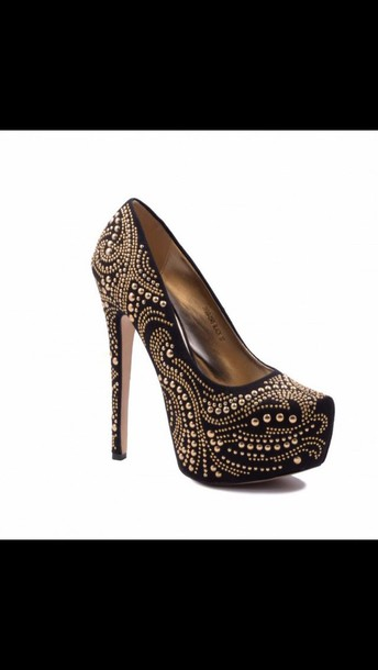 shoes sparkling high heels