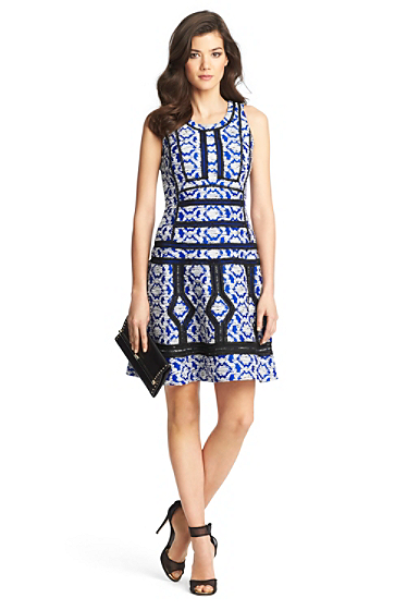 Margot Trim Detail Tweed Dress | Dresses by DVF