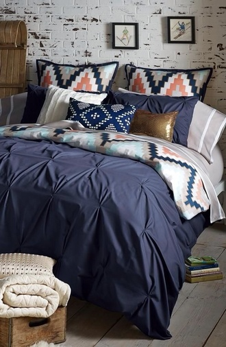 native american hipster pillow aztec pillow bedding chevron chevron bedding navy aztec coat phone cover home accessory home decor aztec print coat bedroom cute bedding blue beddig aztec bedding gold pillow