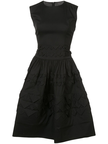 oscar de la renta dress mini dress mini triangle sleeveless women cotton black