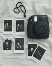 home accessory,camera,polaroid camera,tumblr,photography,black,grunge,grunge wishlist,trendy,instagram